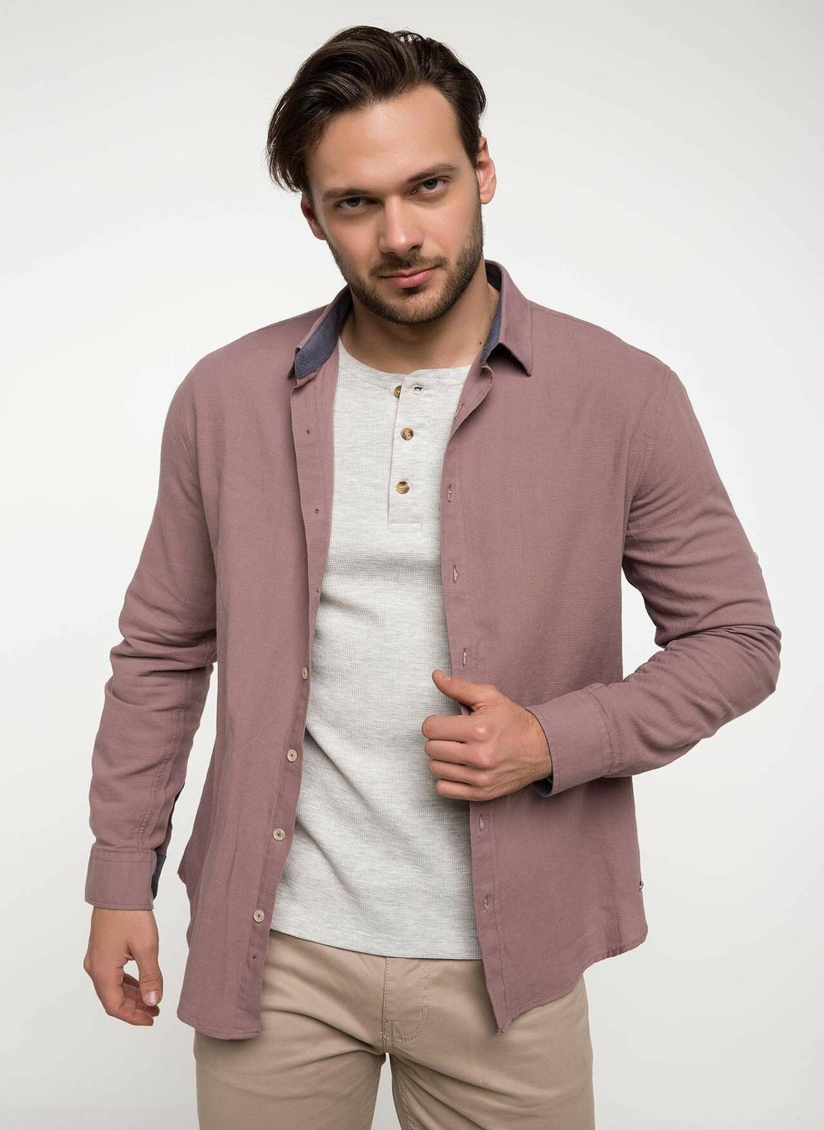 Defacto Polo Yaka Slim Fit Uzun Kollu Gömlek I0968az18sppn379 Gömlek – 29.99 TL